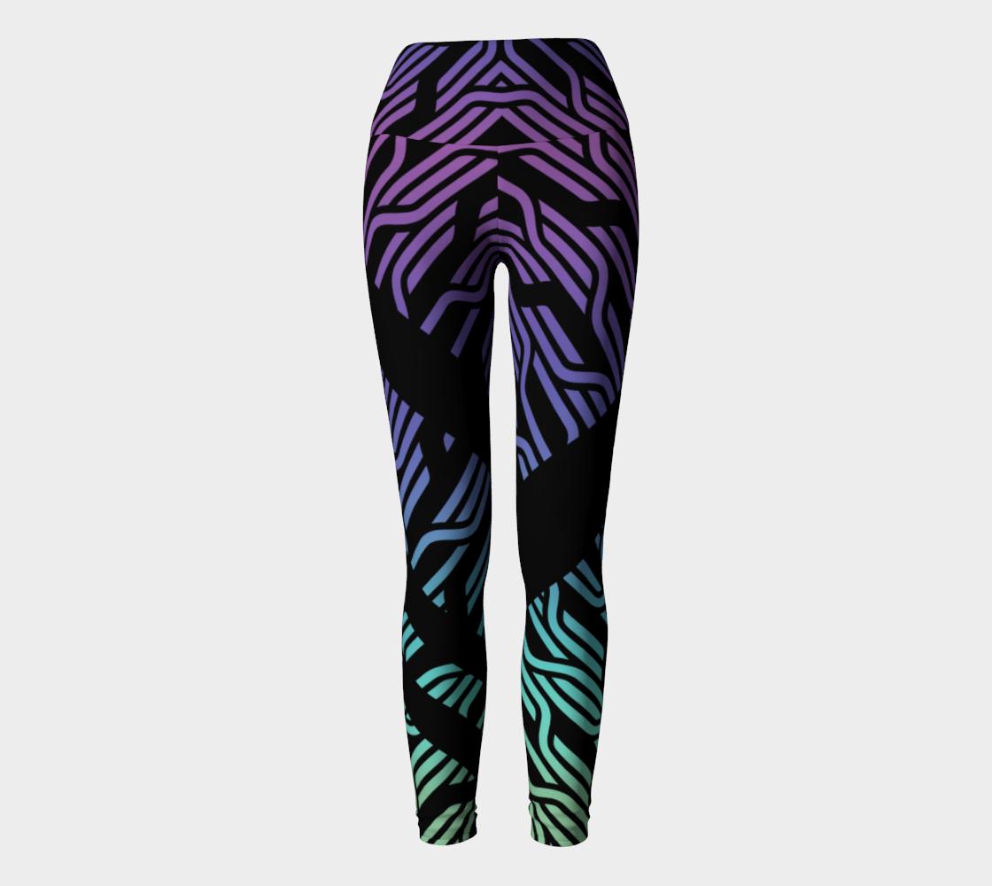 Geometrix - Cable Pastel Ombre Yoga Leggings preview