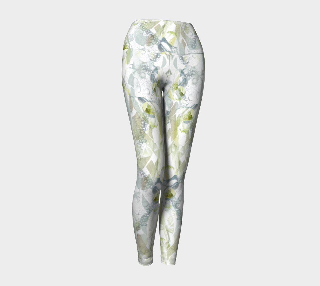 Spring Equinox 2 Yoga Leggings by Laura Davis Art Studio preview #1