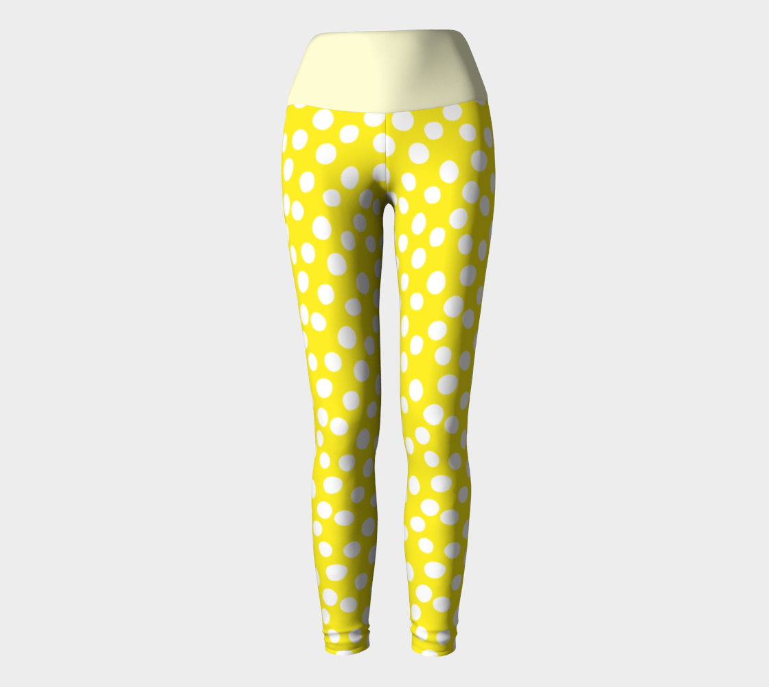 All About the Dots Yoga Leggings - Yellow preview