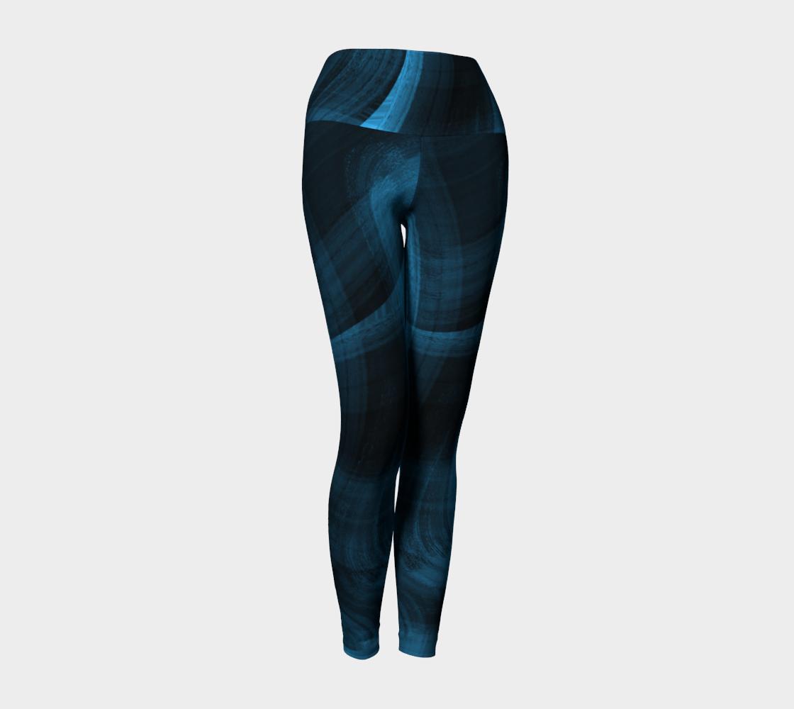 Bluish Black Hole Yoga Leggings preview #1