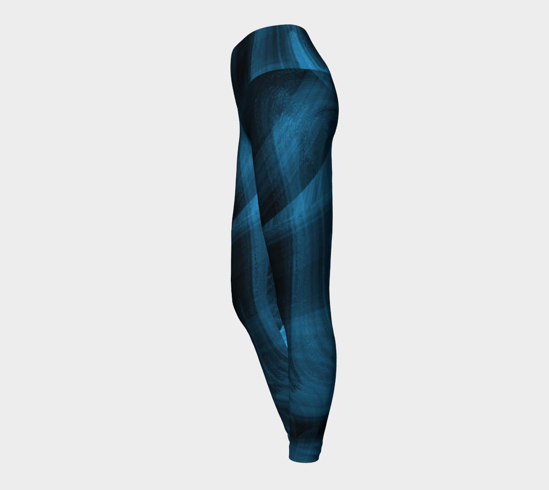 Bluish Black Hole Yoga Leggings preview #3