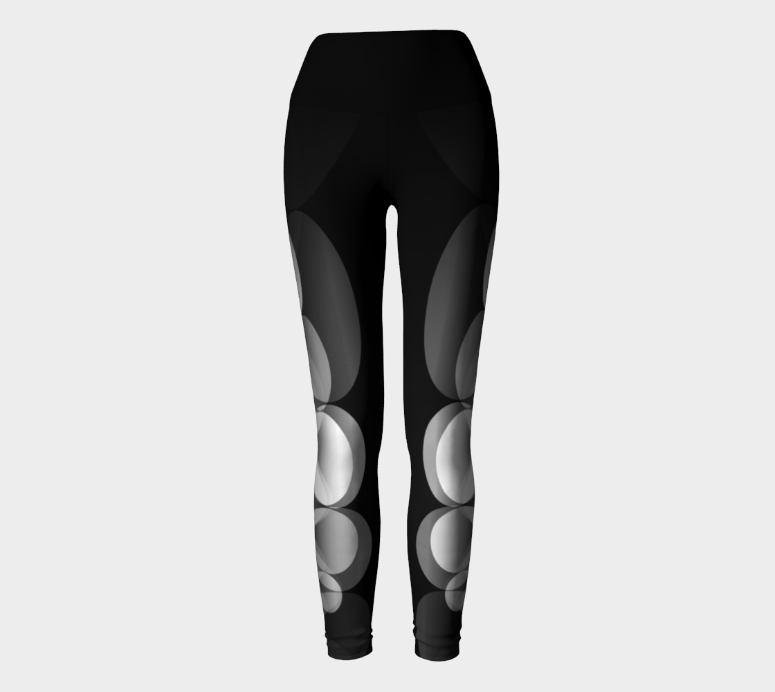 Black and White - Ripple Yoga Leggings preview