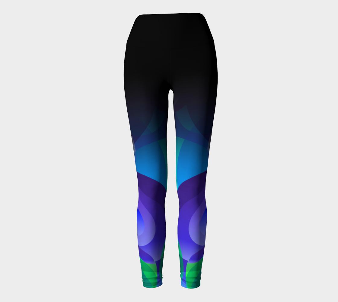Geometrix - Ellipse Indigo Yoga Leggings preview