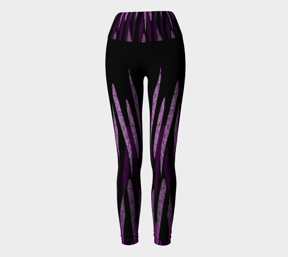 Purple Ice Abstract Yoga Leggings preview