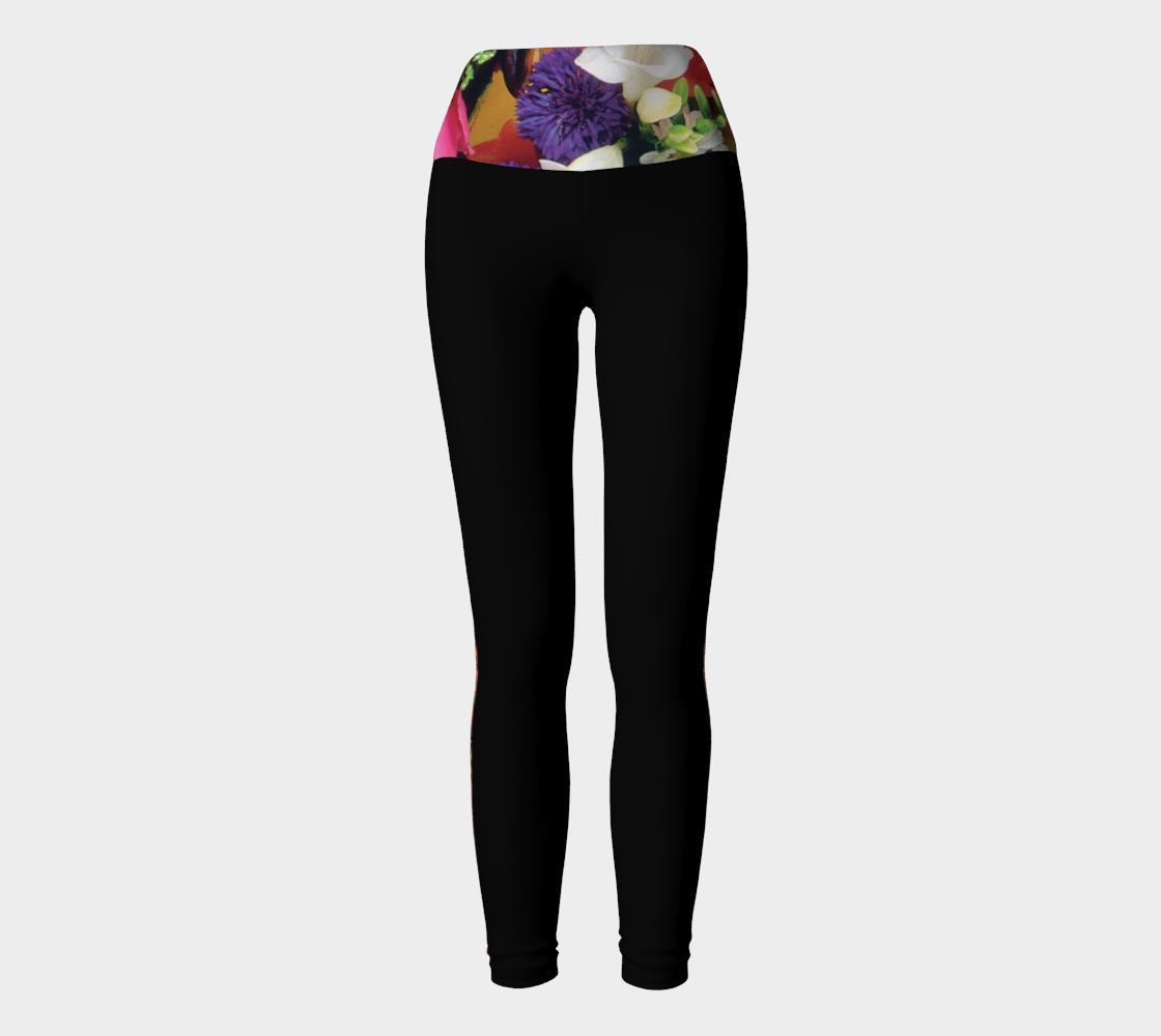Black Floral Yoga Leggings preview