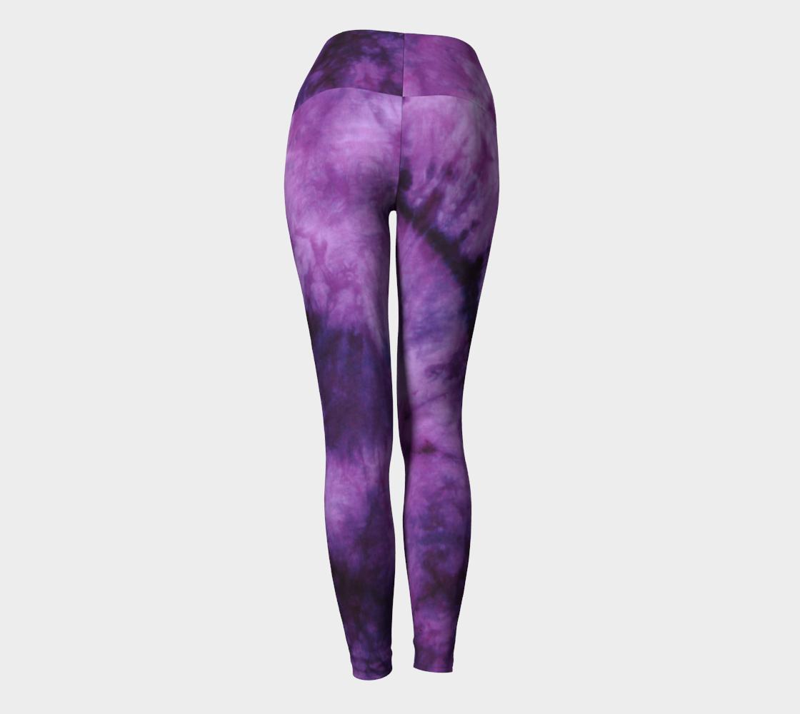 Purple Marble Yoga Leggings preview #4