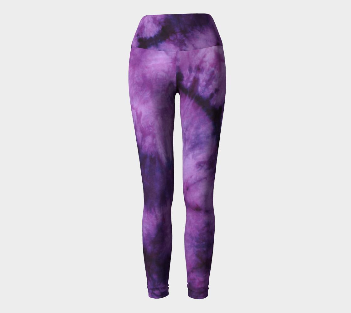 Purple Marble Yoga Leggings preview #2