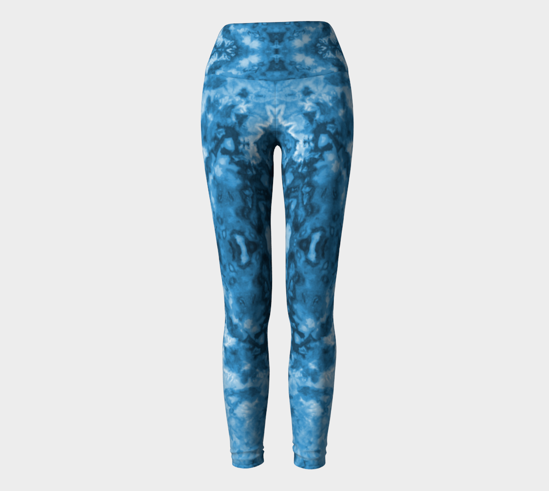 Blue Abstract Yoga Leggings preview