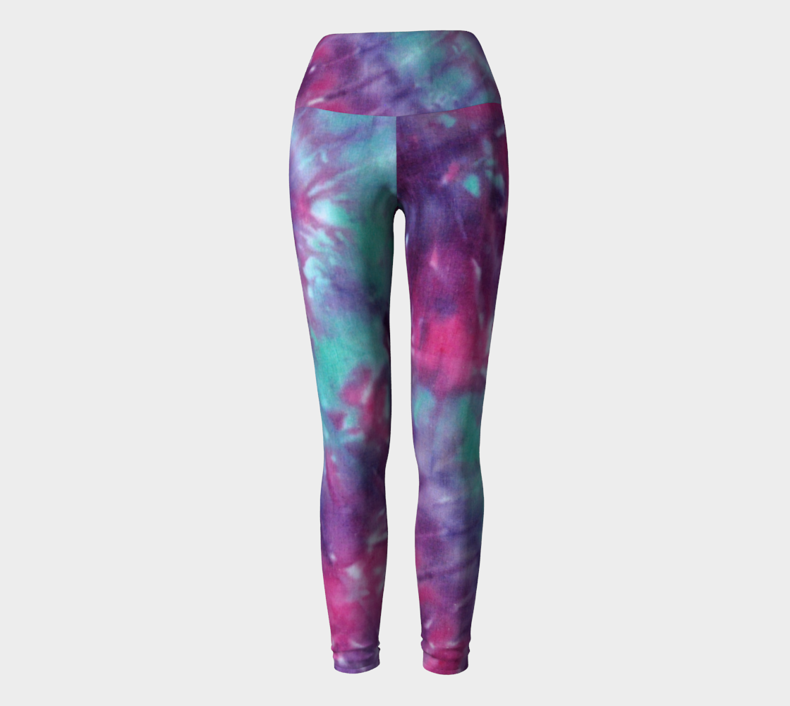 Blue Pink Spiral Yoga Leggings preview