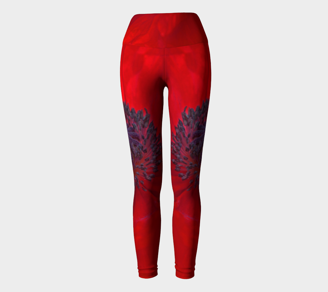 Red Envy Yoga Leggings preview
