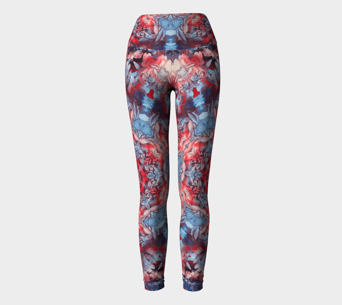 red and blue art #yogaleggings preview