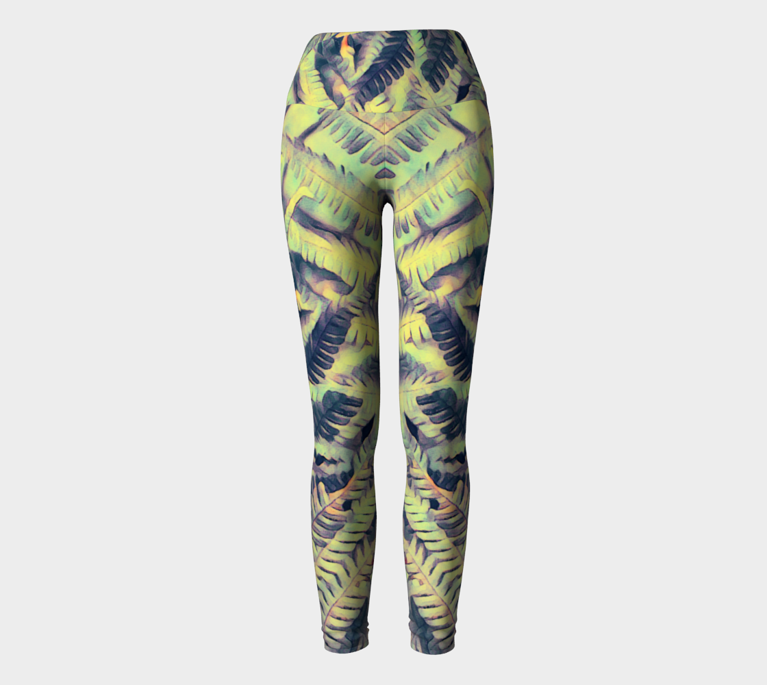 green ferns #yogaleggings preview
