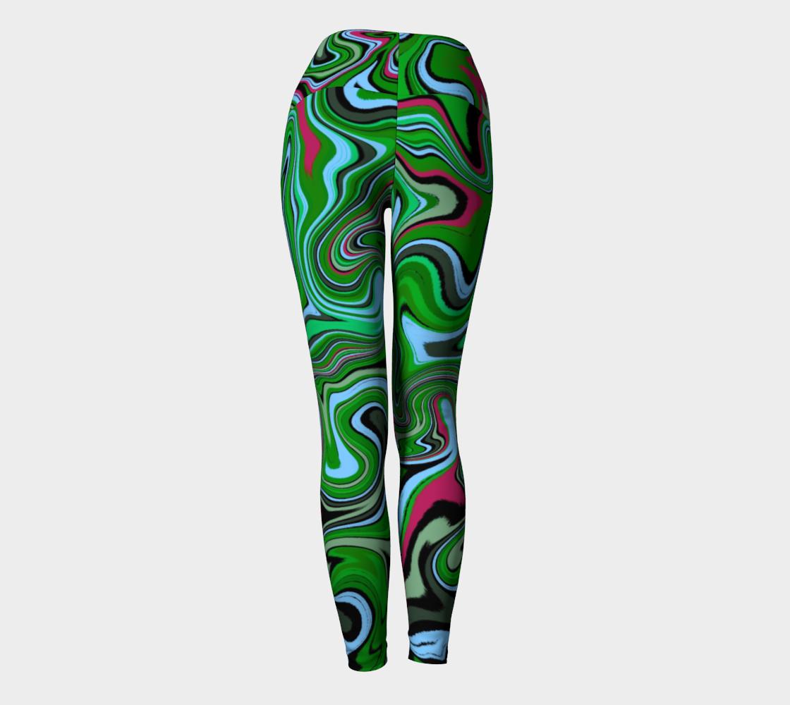 Storm Damage Yoga Leggings preview #4