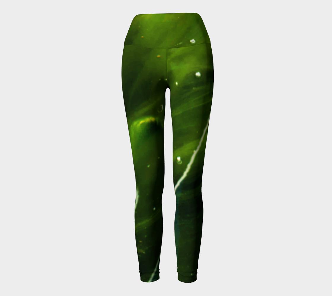 Green Algae and Water Yoga Leggings preview