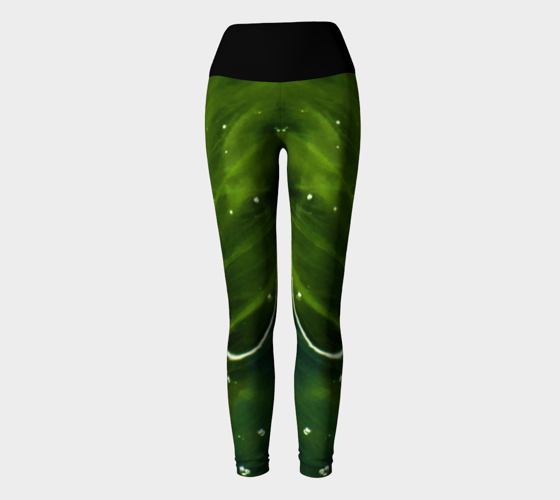 Green Algae and Water Yoga Leggings preview