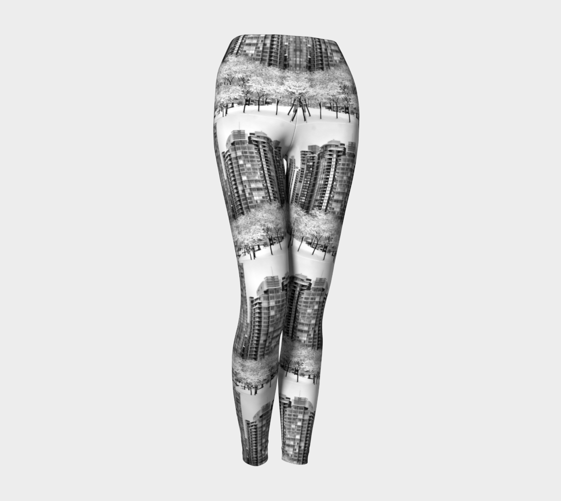 Snow In The City Yoga Leggings preview #1