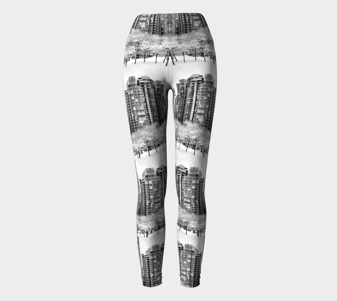 Snow In The City Yoga Leggings preview