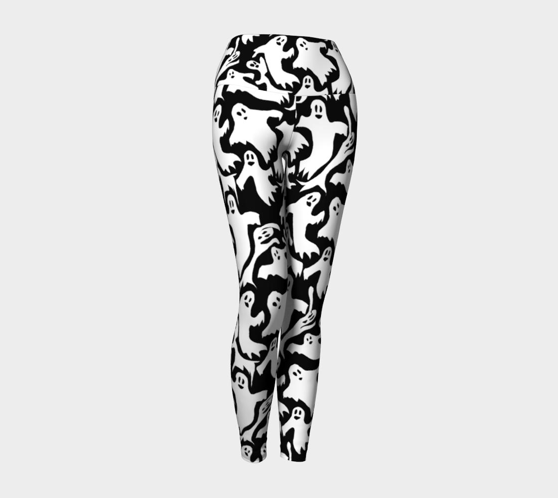 Aperçu de Ghosts Pattern Yoga Leggings #1