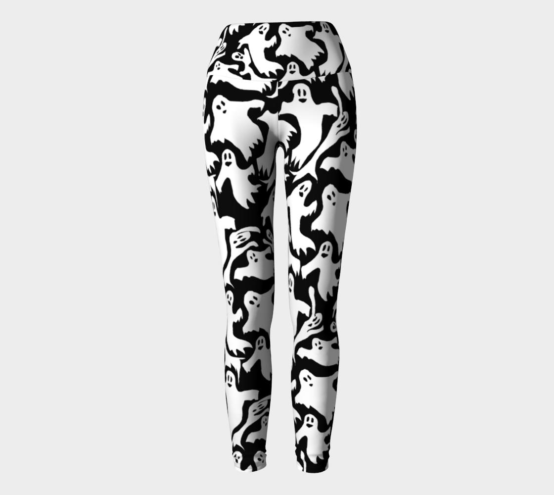 Aperçu de Ghosts Pattern Yoga Leggings