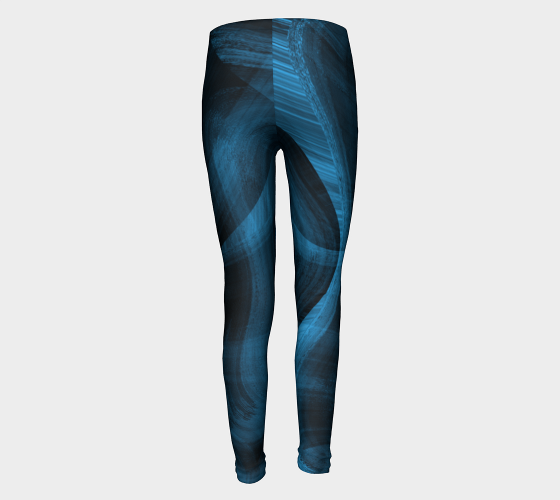 Bluish Black Hole Youth Leggings preview #5