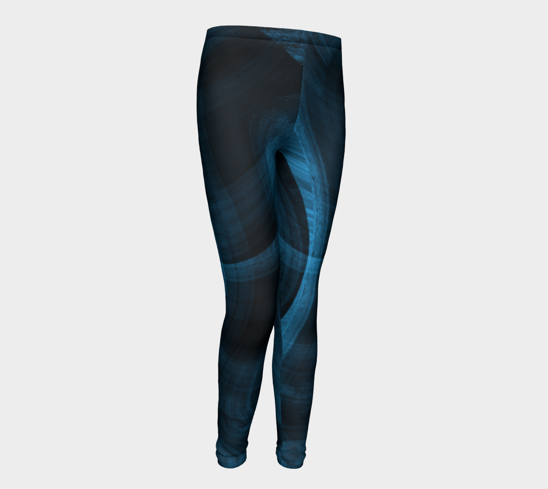 Bluish Black Hole Youth Leggings preview #1