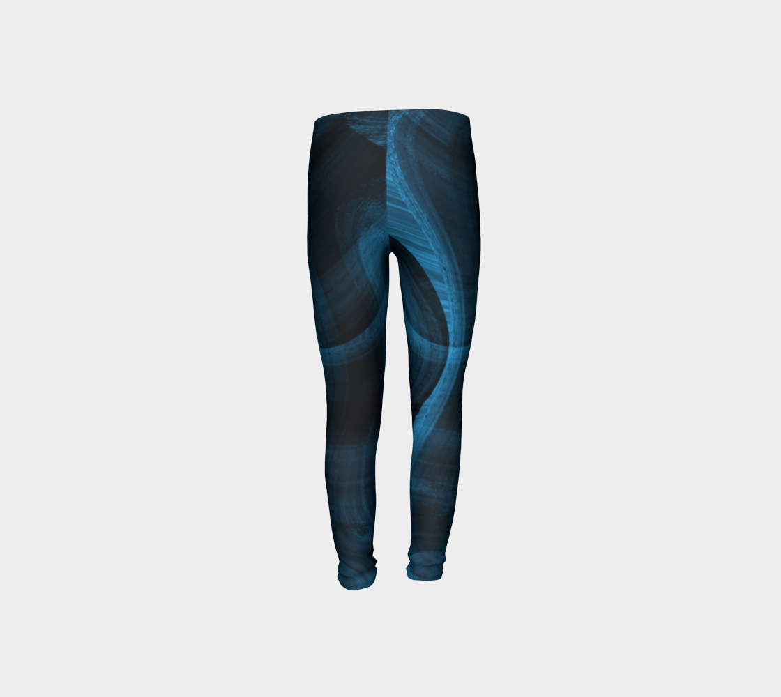 Bluish Black Hole Youth Leggings preview #8