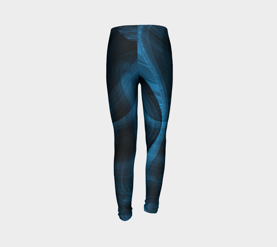 Bluish Black Hole Youth Leggings preview #7