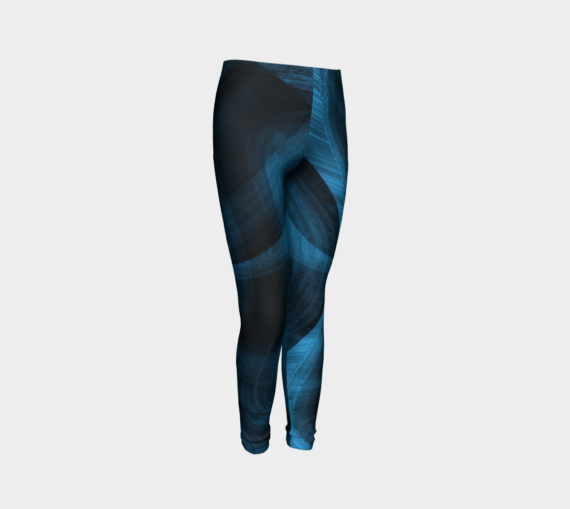 Bluish Black Hole Youth Leggings preview #3