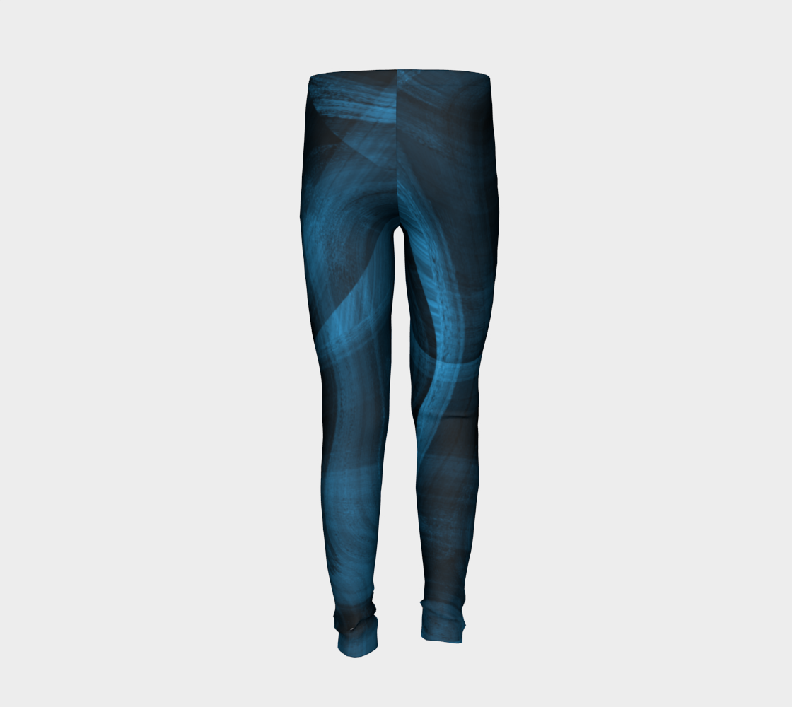 Bluish Black Hole Youth Leggings preview #6
