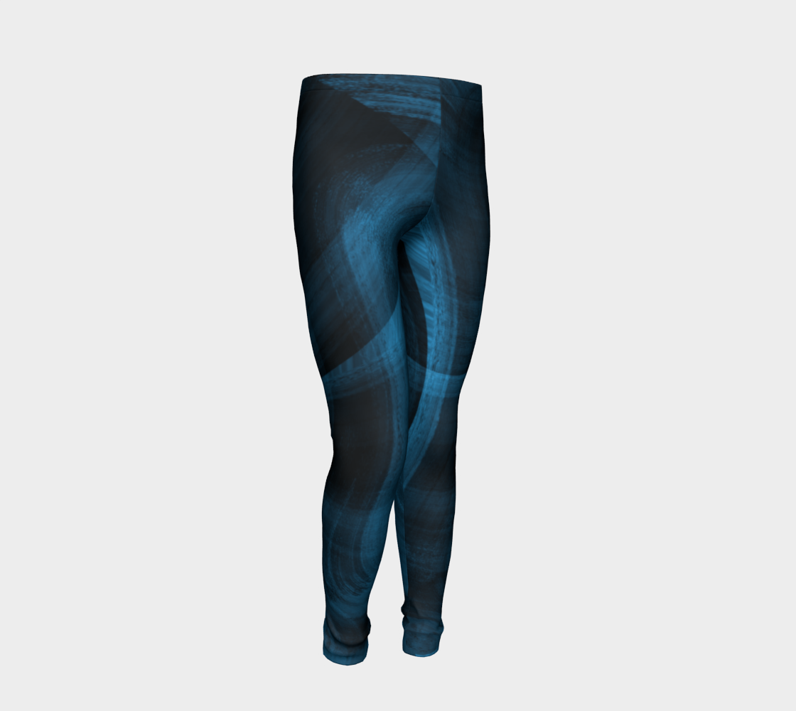 Bluish Black Hole Youth Leggings preview #2