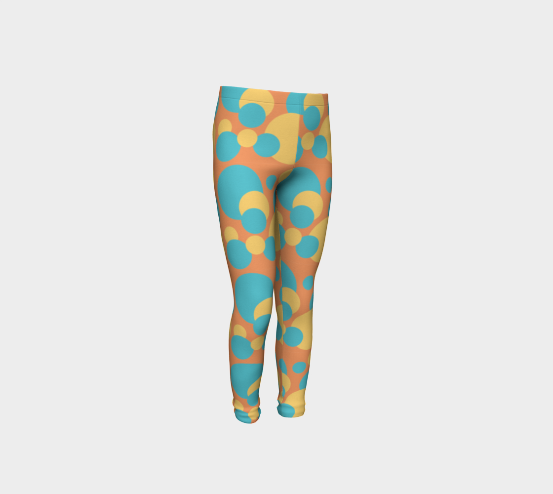 Retro Youth Leggings in Blue and Yellow preview