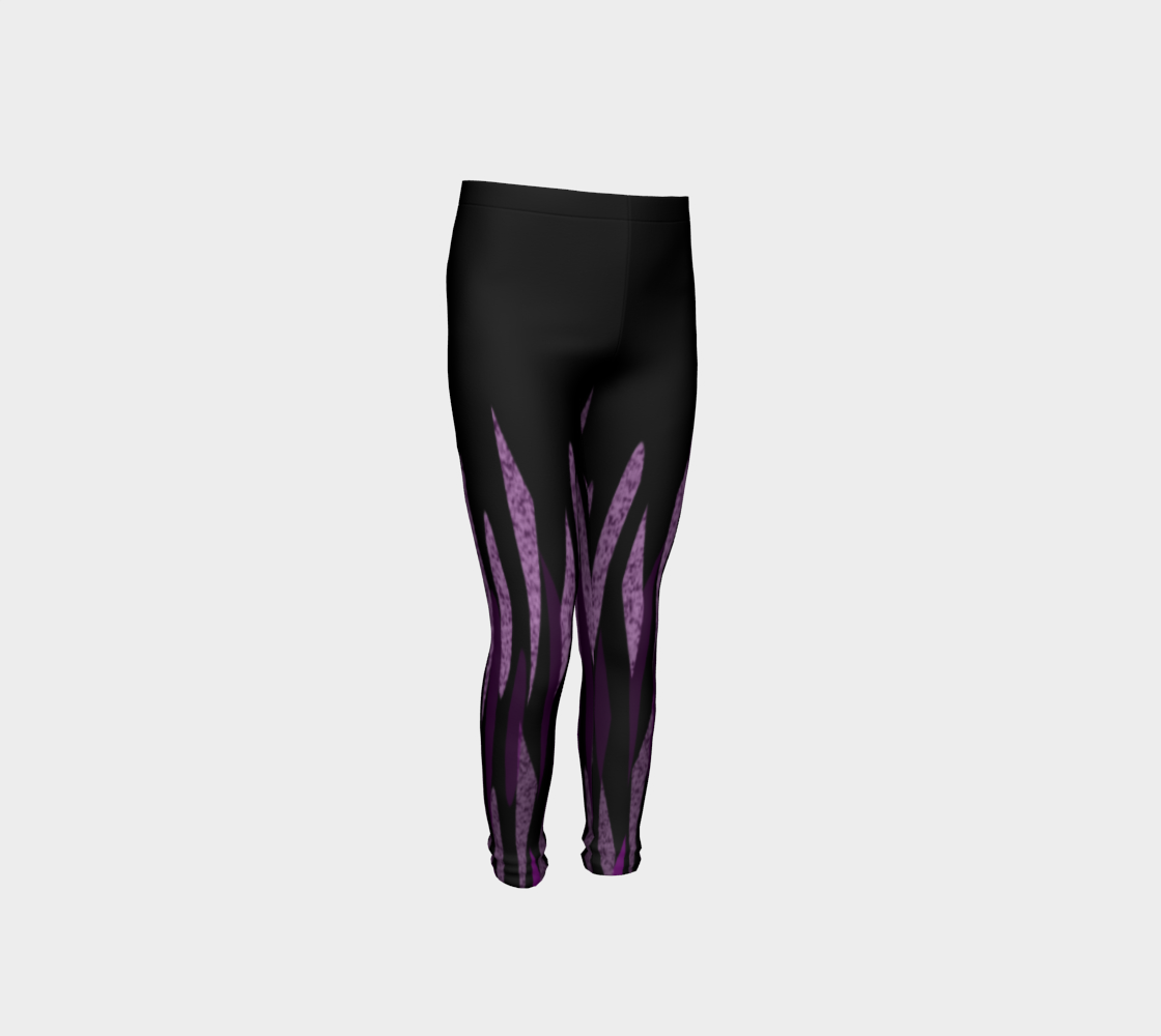 Purple Ice Abstract Youth Leggings preview