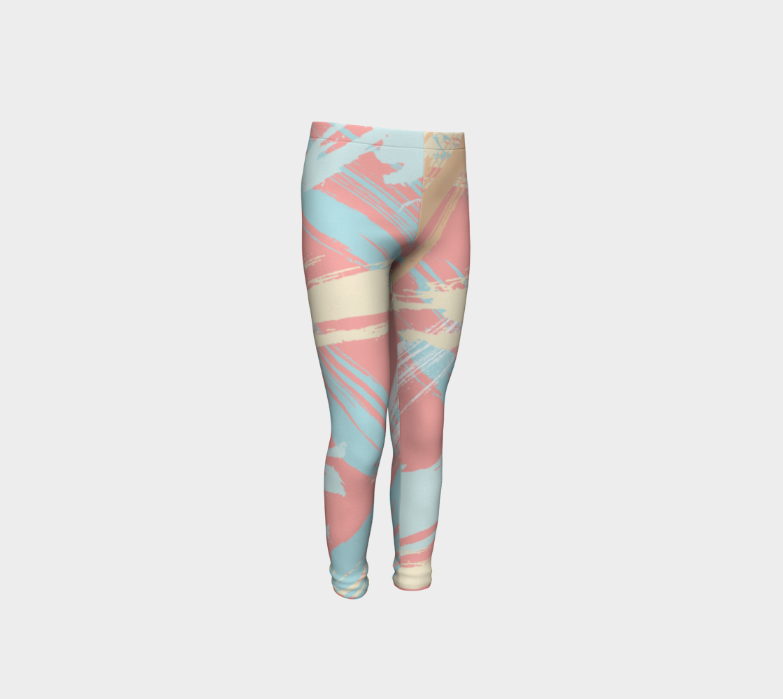 Pastel Abstract Brush Stroke Youth Leggings preview