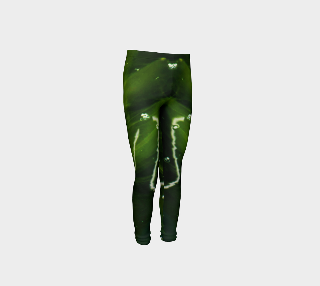 Green Algae and Water Youth Leggings preview