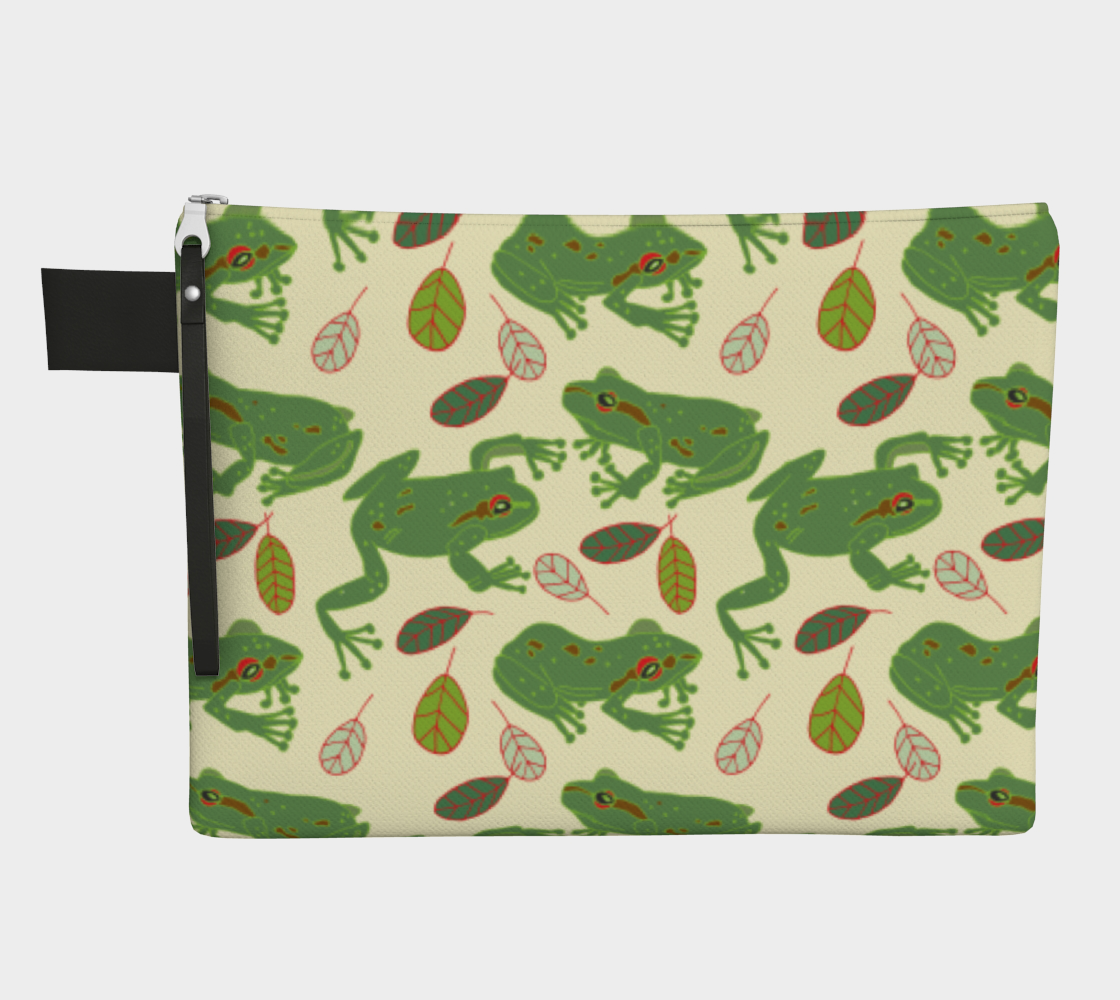 Big Tree Frogs Zipper Carry-All preview