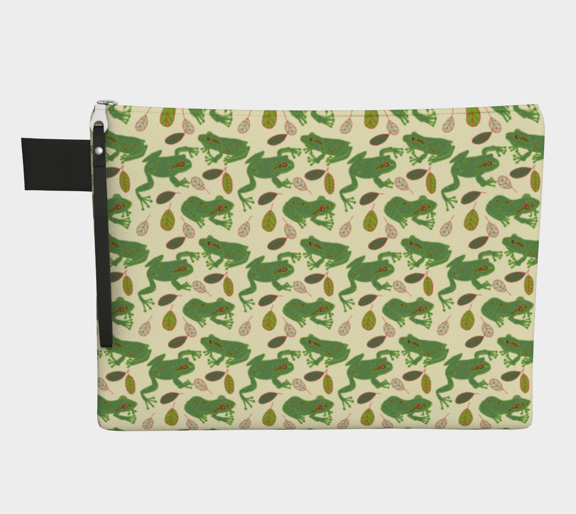 Tree Frogs Zipper Carry-All preview