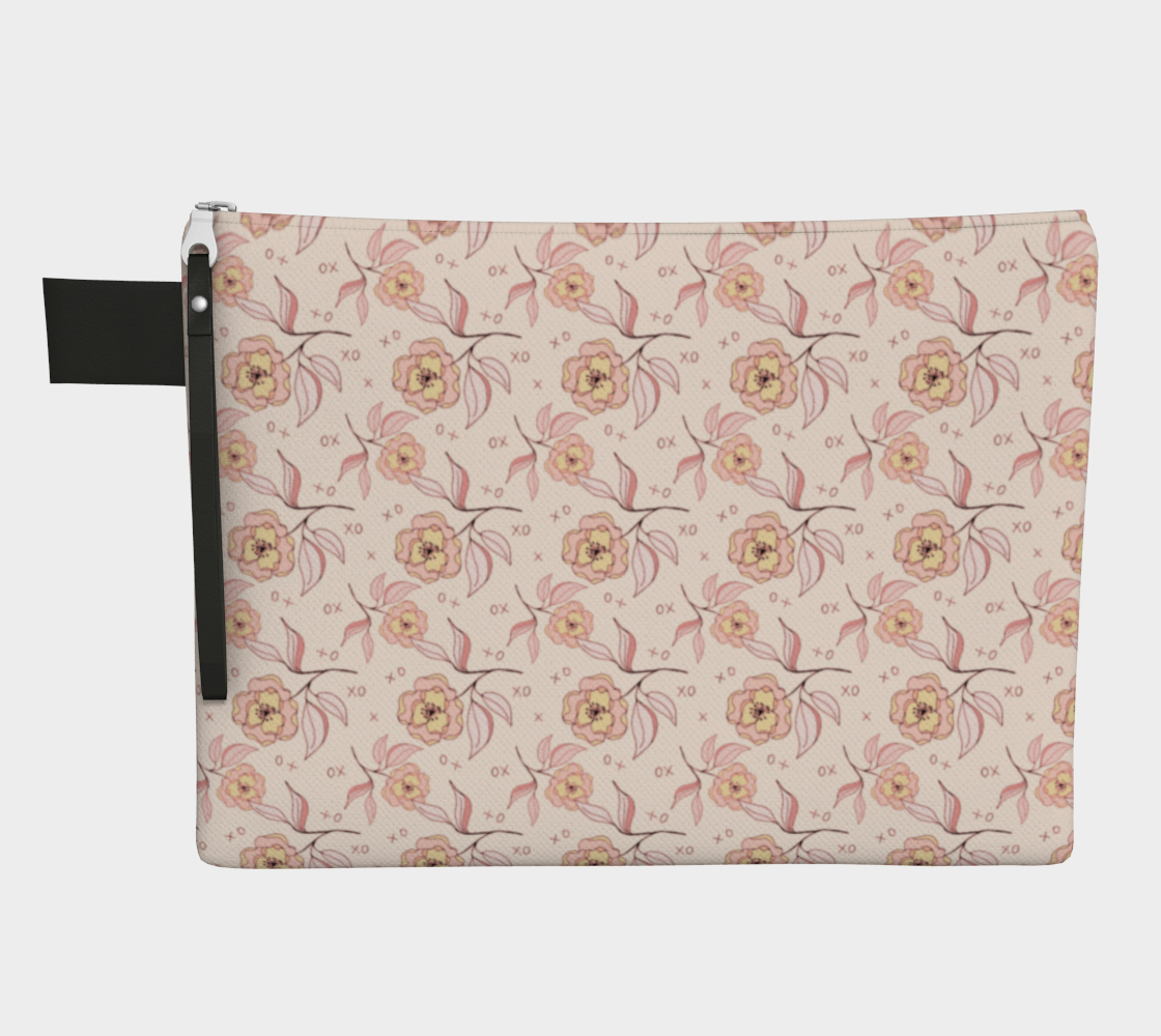 Pink Peonies Zipper Carry-All preview