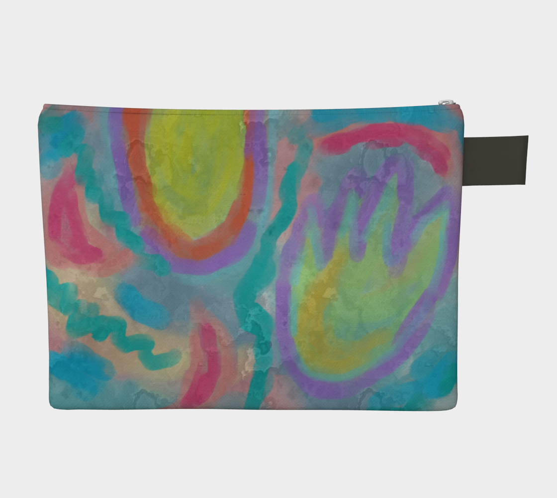 Aperçu de Original Abstract Art Clutch Bag #2