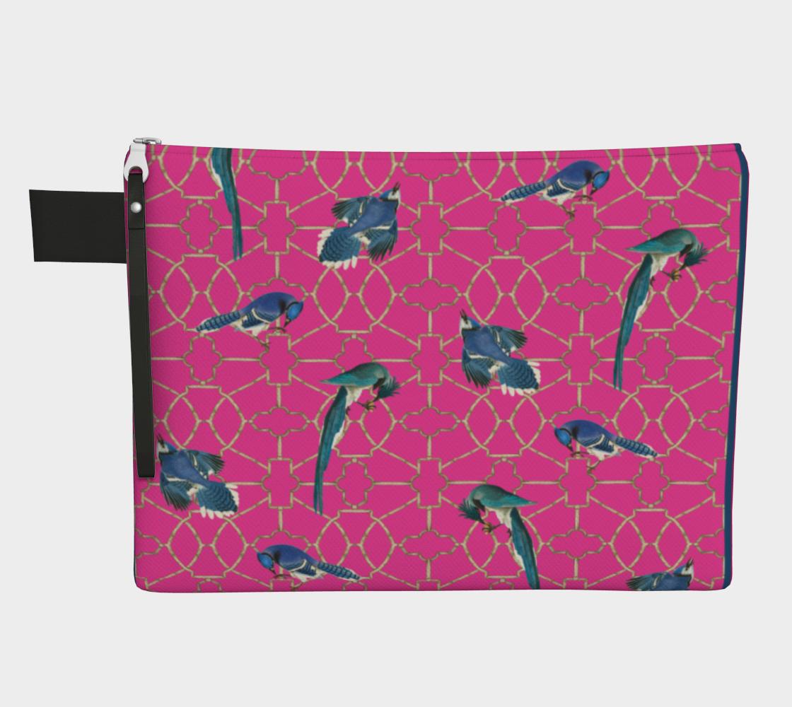 Bluebird Hot Pink Trellis Zip preview
