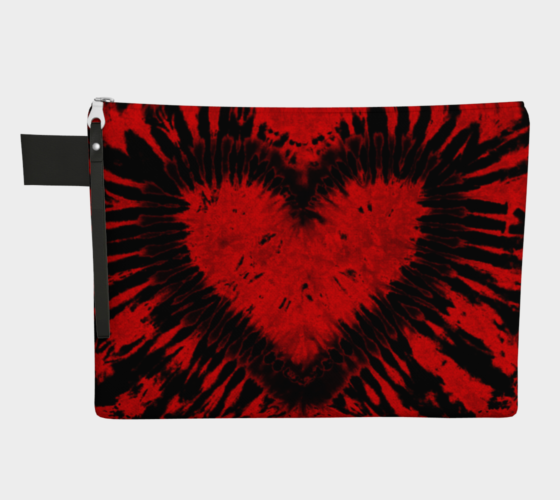 Red Black Heart Carry All preview