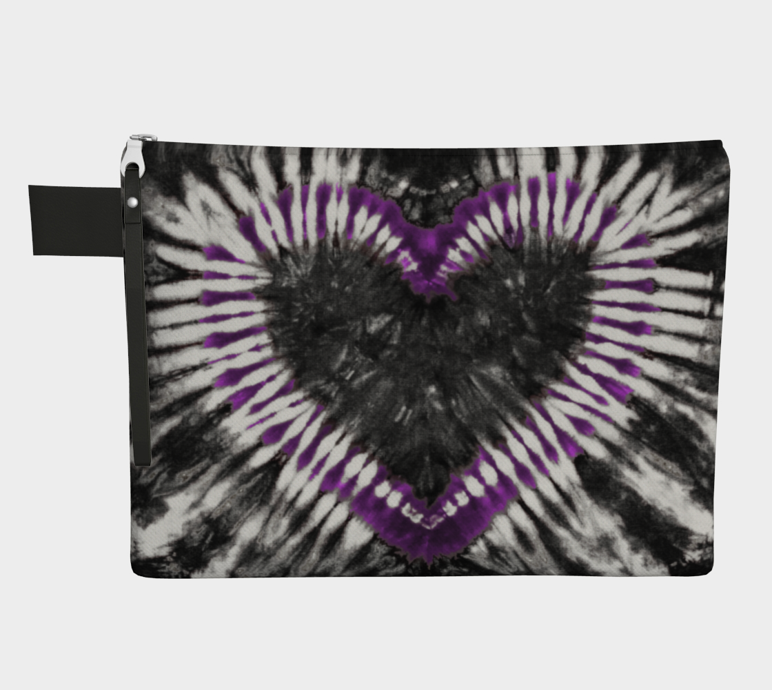 Purple Black Heart Carry All preview