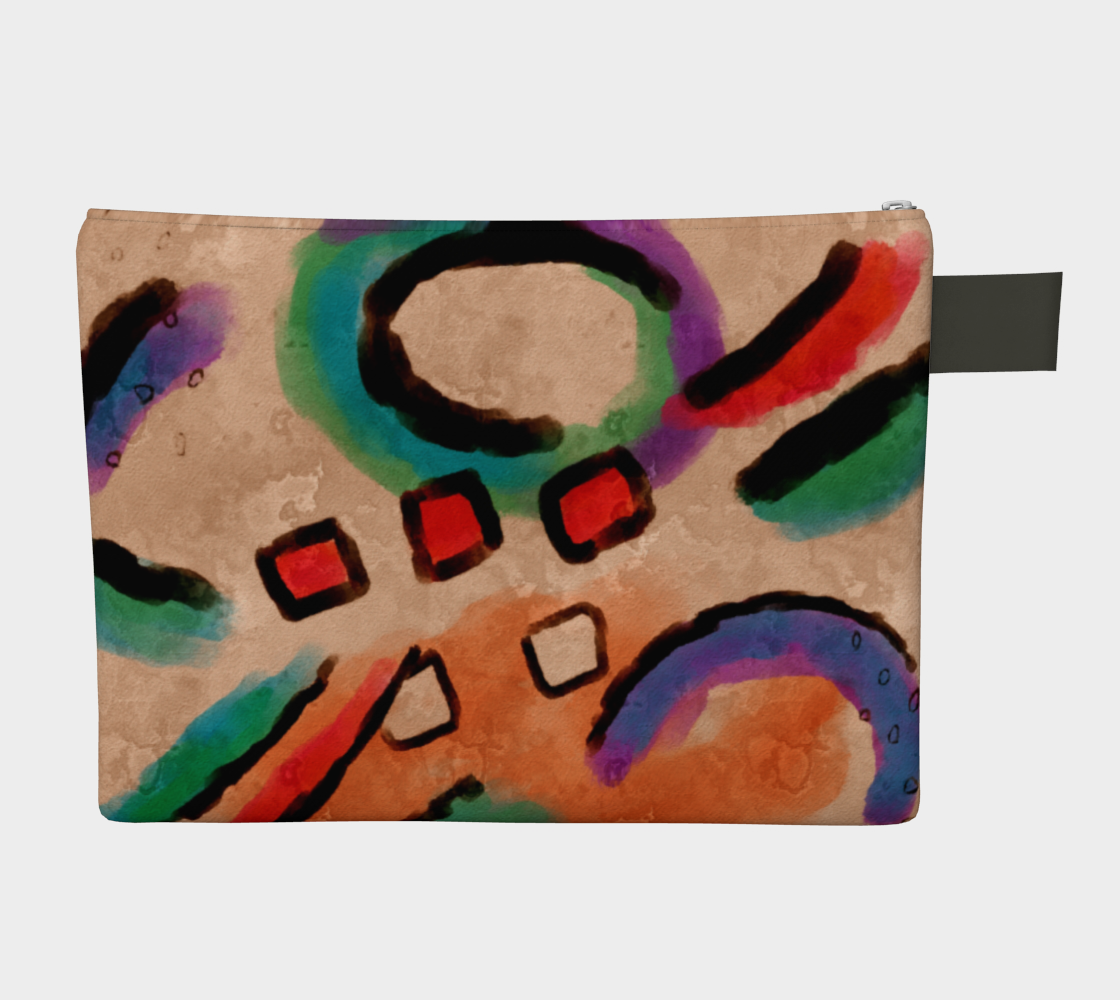 Colorful Abstract Art Clutch Bag preview #2