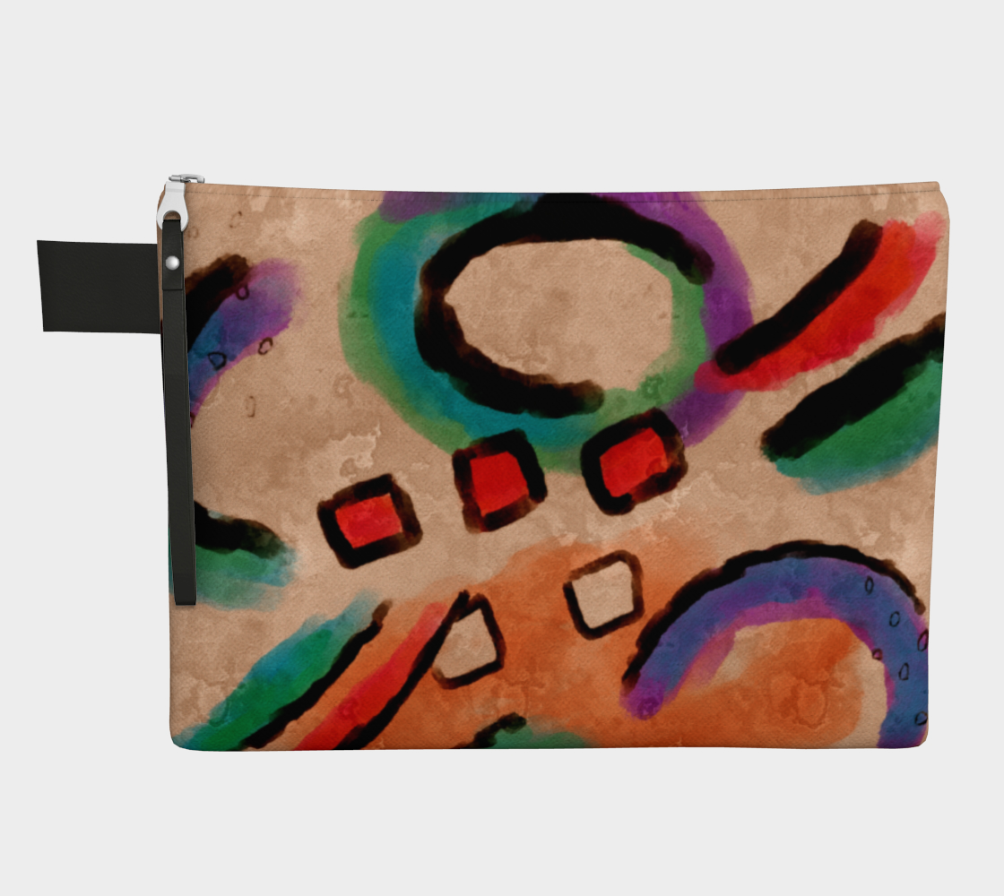 Colorful Abstract Art Clutch Bag 3D preview