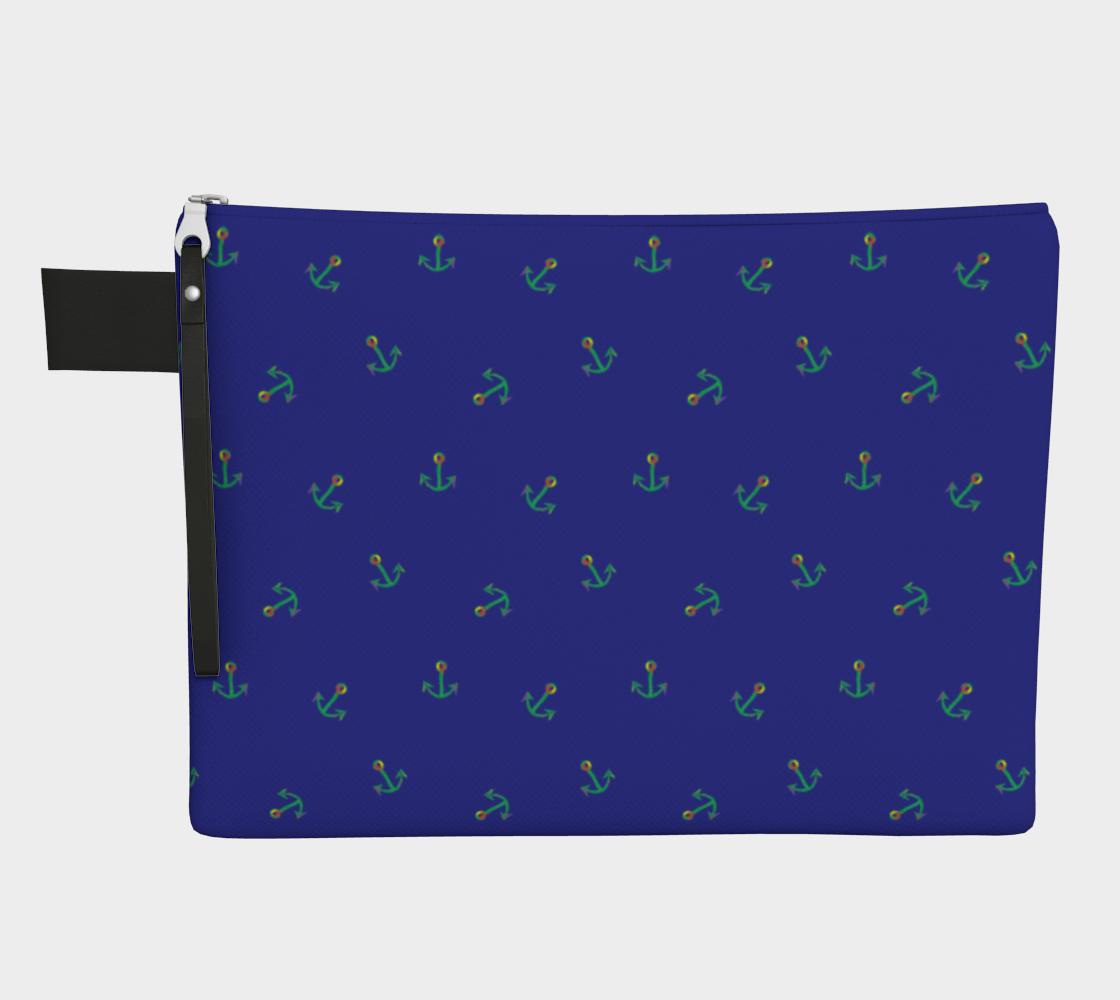 Blue Anchors Away Zipper Carry-All preview