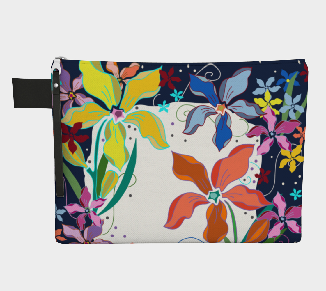Fancy Floral Zipper Carry All preview