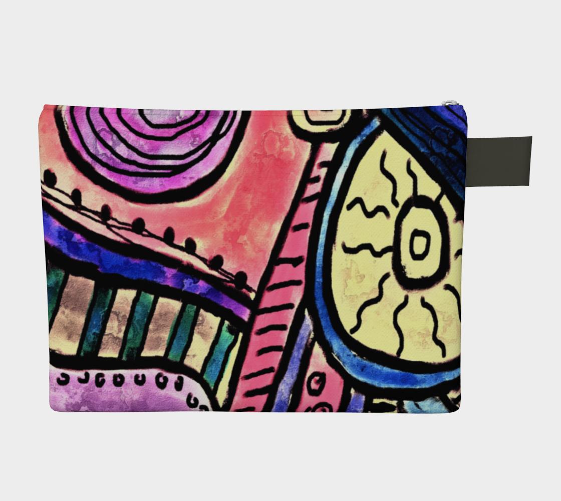 Aperçu de Funky Abstract Art Clutch Bag #2