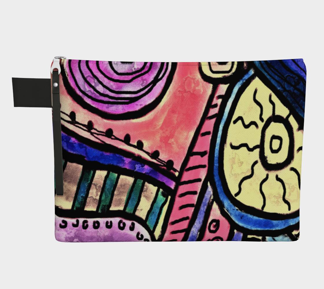 Aperçu de Funky Abstract Art Clutch Bag #1