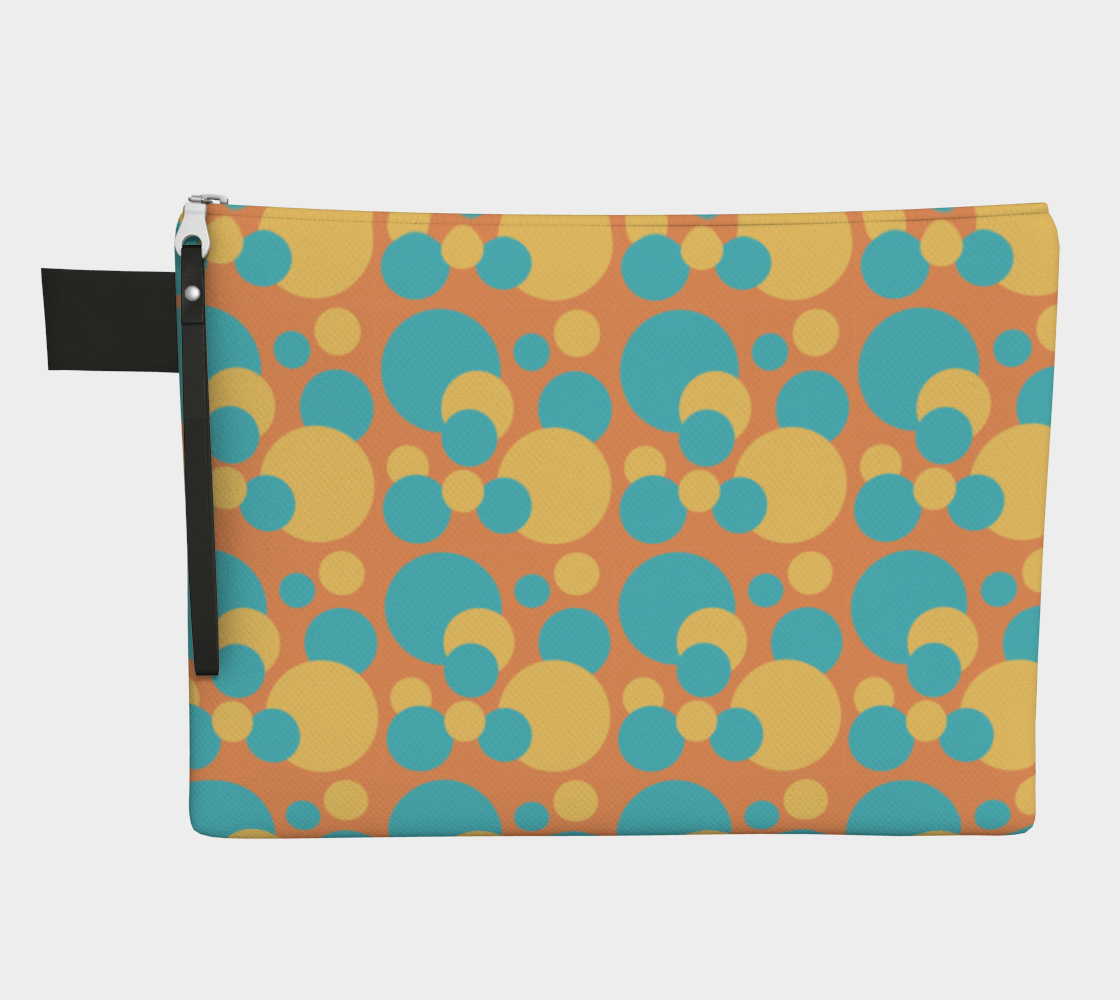 Retro Zipper Carry-All in Blue and Yellow Dot Pattern preview