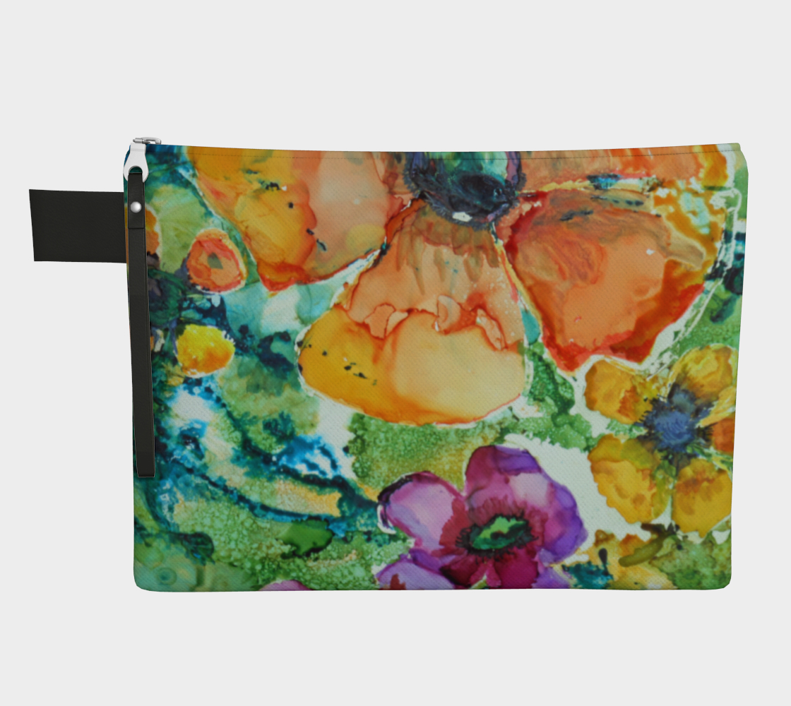 Poetry of Petals Zipper Carry All preview