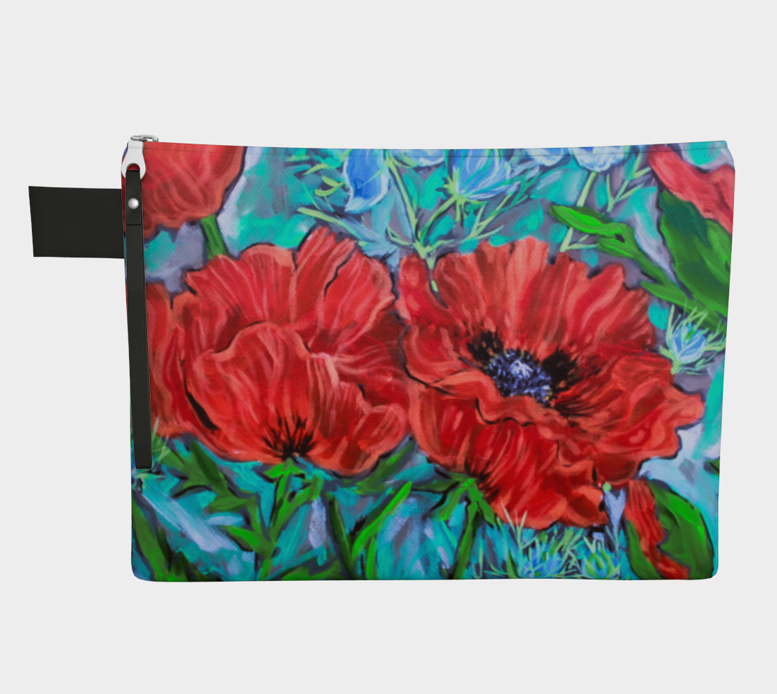 Poppies in the Garden Zipper Carry All preview